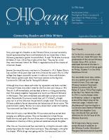 Sept Oct 2015 Ohioana Newsletter